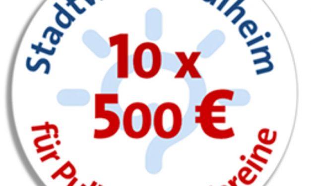 10 x 500 Euro für Pulheimer Vereine