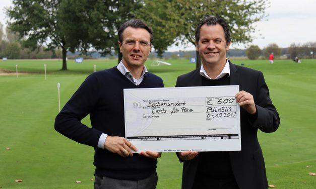 """Golfer spenden für """"Cents für Pänz"""""""