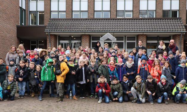 Kinder der Horionschule zu Gast bei Bürgermeister Keppeler