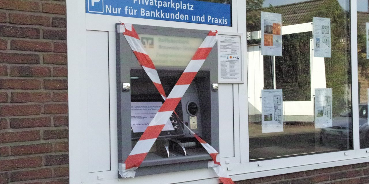 Keine Bankselbstbedienungsfiliale mehr in Dansweiler